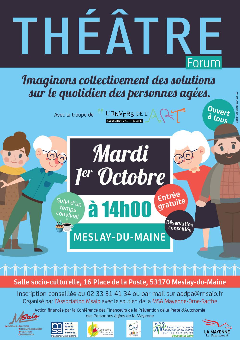 Théâtre forum à Meslay-du-Maine / 1 oct 2019 – 14 heures
